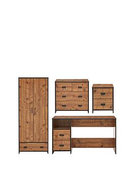 jackson-4-piece-package-kids-2-door-1-drawer-wardrobe-22-drawer-chestnbsp2-drawer-bedside-chest-and-desk
