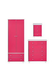 miami-fresh-kidsnbsp3-piece-package-2-door-2-drawer-wardrobe-5-drawer-chest-3-drawer-bedside-chest-pink