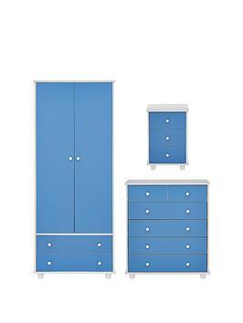 miami-fresh-kidsnbsp3-piece-package-2-door-2-drawer-wardrobe-5-drawer-chest-3-drawer-bedside-chest-bluebr-nbspbr-nbsp