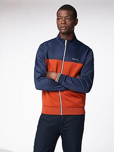 ben-sherman-ben-sherman-zip-through-colour-block-tricot-track-top--dark-navy