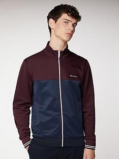 ben-sherman-colour-block-tricot-track-top-winenavy