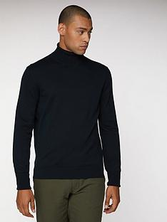 ben-sherman-cotton-roll-neck-black