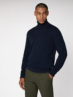 ben-sherman-cotton-roll-neck-dark-navy
