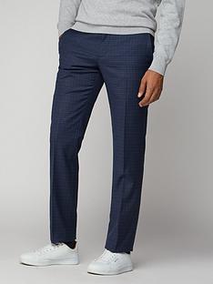 ben-sherman-micro-check-mod-trouser-blue
