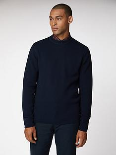 ben-sherman-airtex-cut-amp-sew-jumper-dark-navy