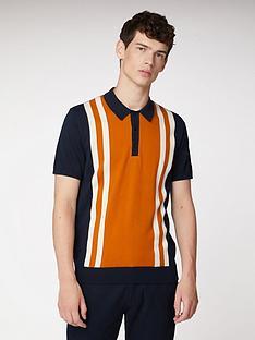 ben-sherman-mod-striped-polo-shirt-dark-navy