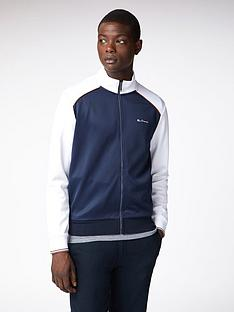 ben-sherman-panelled-track-top-white