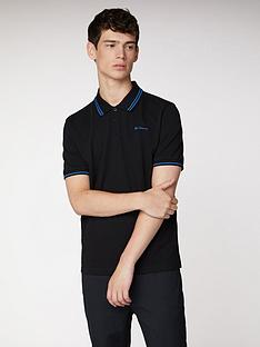 ben-sherman-classic-tipped-polo-black