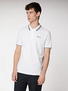 ben-sherman-ben-sherman-classic-tipped-polo-snow-white