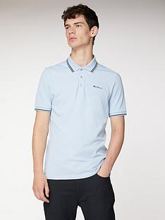 ben-sherman-ben-sherman-classic-tipped-polo-angel-blue