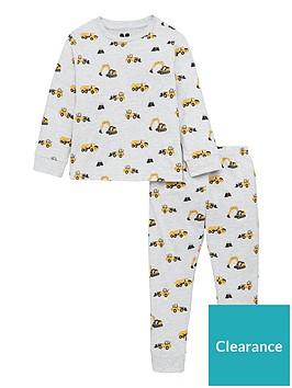 v-by-very-boys-digger-pyjamas-grey