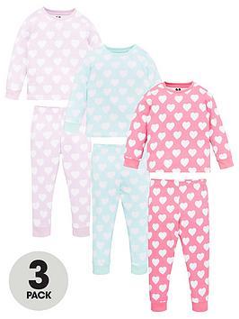 v-by-very-girls-3-pack-heart-pyjamas-multi