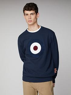 ben-sherman-boucle-target-sweatshirt-dark-blue