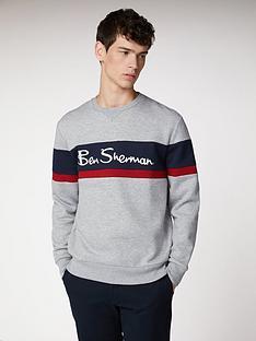 ben-sherman-ben-sherman-sports-crew-neck-sweat-light-grey