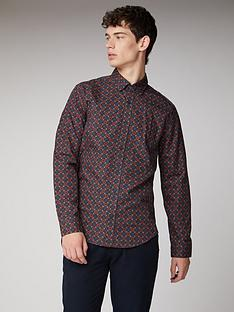 ben-sherman-long-sleeve-shirt-rust