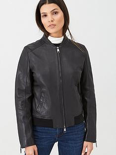 boss-casual-leather-jacket-black