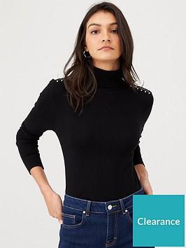 wallis-stud-zip-roll-neck-black