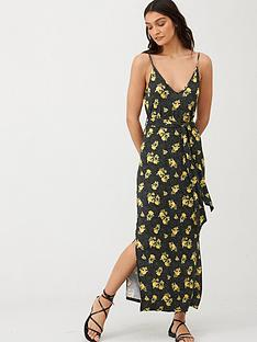 v-by-very-strappy-beltednbspmidi-dress-black-floral