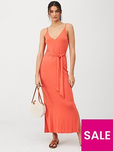 v-by-very-strappy-belted-midinbspdress-coral