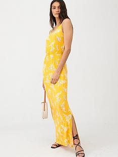 v-by-very-channel-waist-jersey-beachnbspmaxi-dress-yellow-floral