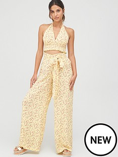 v-by-very-crinkle-trouser-beach-co-ord-yellow
