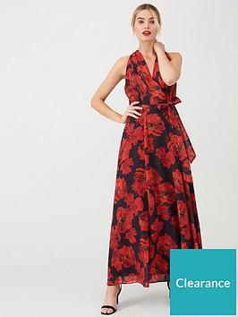 wallis-rose-print-maxi-dress-black