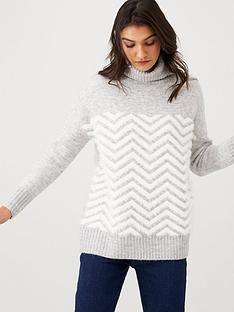 wallis-chevron-fluff-jumper-grey
