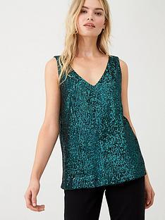 wallis-sequin-cami-green