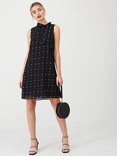 wallis-star-glitter-swing-dress-black
