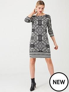 wallis-tile-border-print-tunic-black