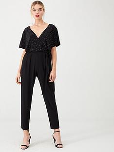 wallis-hotfix-wrap-jumpsuit-black