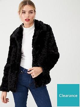 wallis-faux-fur-textured-coat-black