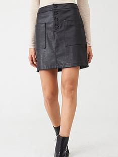 boss-faux-leather-skirt-black
