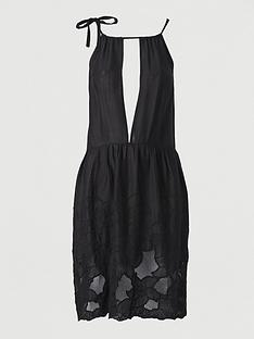 v-by-very-embroidered-hem-beach-dress-black