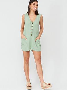 v-by-very-button-detail-beachnbspplaysuit-mint
