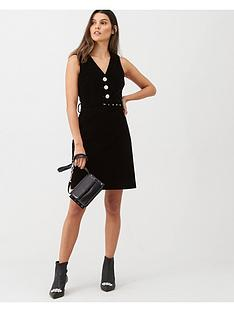 warehouse-velvet-dress-black