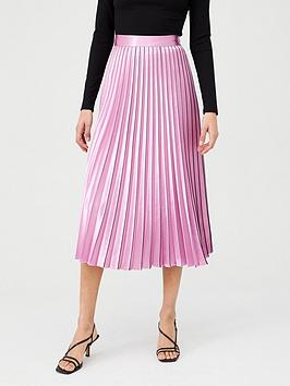 hugo-pleated-midi-skirt-stripe