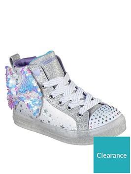 skechers-girls-shuffle-brights-high-top-plimsoll-whitesilver