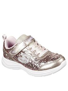 skechers-girls-glimmer-kicks-glitter-n-glow-trainers-rose-gold