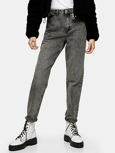topshop-topshop-tall-ripped-hem-mom-jeans-grey