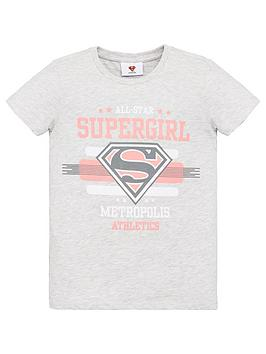 superman-girls-supergirl-t-shirt-grey-marl