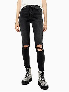 topshop-topshop-34-austin-rip-jamie-jeans-black