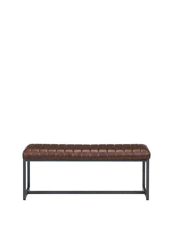 Julian Bowen Brooklyn Faux Leather Upholstered Dining Bench Littlewoodsireland Ie