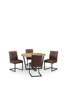 julian-bowen-brooklyn-120-cm-solid-oak-and-metal-round-dining-table-4-brooklyn-chairs