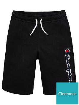 champion-boys-logo-shorts-black