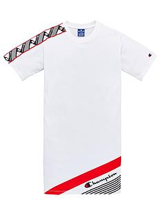 champion-girls-taped-t-shirt-dress-white