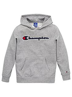 champion-boys-logo-hoodie-grey-heather