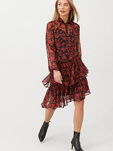 v-by-very-ruffle-midi-dress-print