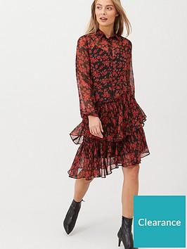 v-by-very-ruffle-midi-dress-print