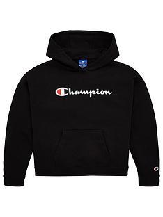 champion-girls-logo-overhead-hoodie-black